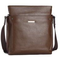 2013 men's vertical genuine leather men bag men's shoulder bag messenger bag business&leisure bag,for gift