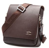 classical genuine leather men's shoulder bag men's business bag briefcase leather messenger bag man