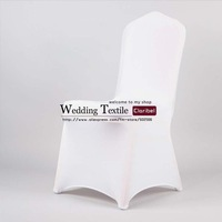 Free Shipping Big Discount White Banquet Spandex Chair Cover For Wedding
