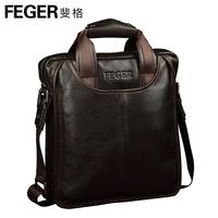 100% GENUINE LEATHER  briefcase  leisure men's bag shoulder bag commercial messenger bag fashion leather bags man