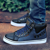 Men's Shoes Fashion Fur Inside stylish Sneakers For men high-ankle fashion Sneakers  New 2014 Shipping Wholesale  Sale XMB029