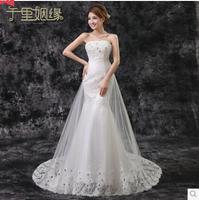 Free Shipping 2014 New Fashion Fish Tail Mermaid Wedding Dress Lace Robe De Mariage Vestido De Noiva
