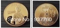Marilyn Monroe gold plated coin with free shipping