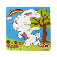 Fashion Wooden Rabbit Puzzle Educational Developmental Baby Kids Training Toy Freeshipping&wholesale