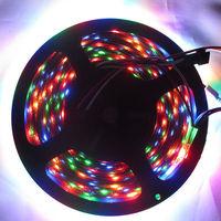 5M 300LEDS Magic Dream Color  5050 RGB LED Strip Light  WS2812B WS2811 Built Individual Addressable  Non-waterproof 5V DC