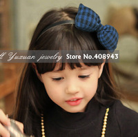 Free shipping New fashion girl/woman bow headband Cute 6colors knitting wool baby hairbands cherry children hair accessories 586