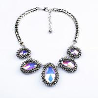 Fashion accessories multicolour glass crystal pendant vintage necklace pendant necklaces pendants best friend