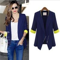 Plus Size Women Blazer Autumn Thin Coat Jacket Casual Suit Fashion Women Blaser feminino XXL XXXL Free Shipping