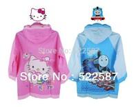 Thomas KT cat cartoon children raincoat, boys and girls thick raincoat raincoat Good quality , factory direct