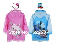 Thomas KT cat cartoon children raincoat, boys and girls thick raincoat raincoat Good quality , factory direct