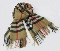 New arrival khaki casual warm plaid wrap cashmere shawl muffler neckerchief high quality free shipping SW012