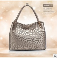 2014 Fashion Print Embossed Genuine Leather Women's Handbag Shoulder Bag