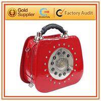 2014 new design colorful originality genuine leather  handbag telephone model handbag made in china