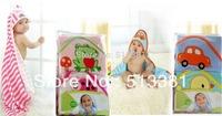 2pcs/pack 100% cotton Baby Boy Girl's Hooded Towel Carter's Towels Bath towel Blanket Swaddling 75x75CM