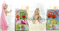 2pcs/pack 100% cotton Baby Boy&Girl's Hooded Towel Carter's BabyTowel baby bath towel baby blanket swaddling 75x75CM