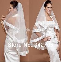 2014 Wedding Accessories Bridal Veil Piece Wedding Veils Bridal Gloves Wedding Veil Pannier White Cap Veu De Noiva Veil