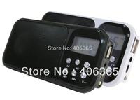 10pcs/lot Original Hi-Rice Portable Speaker Sd-102 TF&USB+FM+Dispaly+extra battery+torch+Alarm Clock