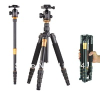 Free Shipping  Q666 Professional  Tripod For SLR Camera  + Head / Monopod Changeable / Max Loading 15Kg