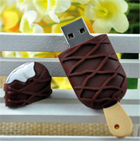 Cute ice cream usb flash drive memory stick pendrive 8GB 16GB 32GB 64GB Chocolate Ice Cream Flash drive  u disk Pen drive
