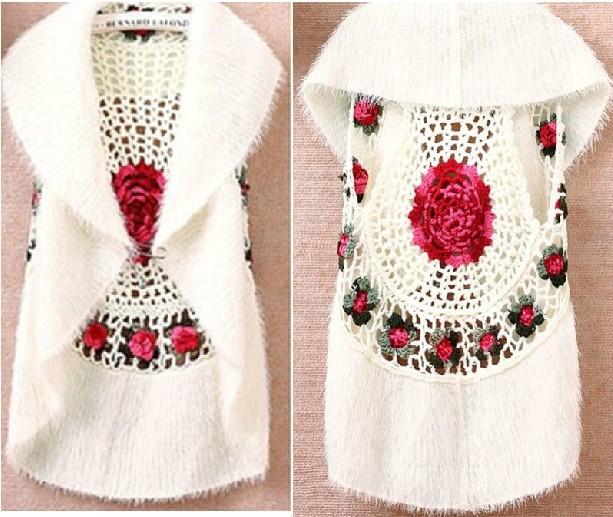 Chaleco a crochet para niña 2014 - Imagui