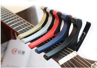 10Pcs/Lot Free Shipping Acoustic Aluminium Alloy Electric Guitar Capo Trigger Single-Handed Tune Change key Clamp 5 Colors