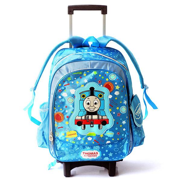 Sponge Bob Thomas & Friends Mickey Mouse Mochilas Kids Cartoon Children Trolley School Bags Wheel Backpack for Boys Travel bag(China (Mainland))