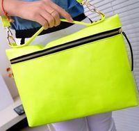Desigual Zipper front Fluorescent color satchel bags handbags women famous brands women messenger bag square  totes bag bolsos