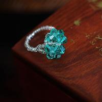 Free shipping+24pcs/lot+New Handmade Elastic CZ Diamond Women's Ring,Ceramics Chain Ring,4 Colors for Chose