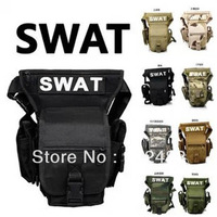 Free Shipping Multi-Function SWAT Drop Leg Utility Waist Pouch Army Tactical Pack Outdoor Sport bag