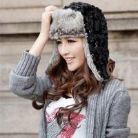 New 2013 Autumn- Winter Cheap Korean Fashion Female Lei Feng Caps Warm Winter Hats Ear Protectors Hat Snow Cap Flying Beanies