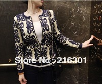 New winter thorn forest department handmade porcelain flowers embroidered knit cardigan thin coat thick section