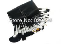WHOLESALE 25 SETS/LOT HIGH QUALITY goat hair 32pcs superior Professional Soft Cosmetic Makeup Brush Set Kit + Pouch Bag Case