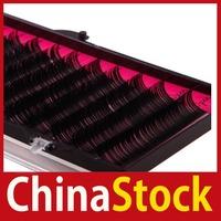 [ChinaStock] 12MM Pro Individual False Eyelashes Thick Curl Lash Extensions Make Up Tool wholesale