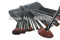 WHOLESALE 25 SETS/LOT HIGH QUALITY BLACK 32 Pro Makeup Brushes Eyebrow Professional Eyeshadow Brush Cosmetic tool Set
