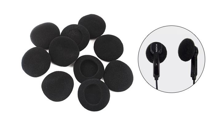 4 Pairs Ear Pad Foam Earbud Cover Headphone 50MM Black [3349|01|01](China (Mainland))