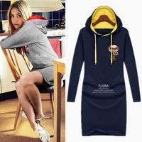 New 2014 autumn & winter Casual Women hoodies large size sweatshirt Fahison long-sleeved hoody dress for women sportswear