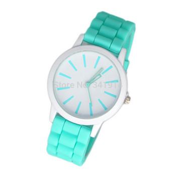 Горячая продажа Дизайнерские женские спортивный бренд силиконовые Новая мода желе смотреть смотреть 12 цветов кварцевые часы для женщин мужчин CN0299-3