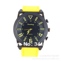 2013 New Fashion Designer Ladies sports brand silicone watch jelly watch 6 colors quartz watch for women men Free Shipping