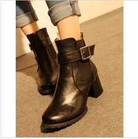 2013 autumn and winter Europe and America British retro belt buckle boots Martin boots women's boots JS130024