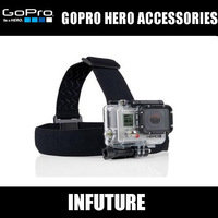 Head belt for GOPRO hero camera accessories belt for fix camera on head + bag   free shipping WT-GP43