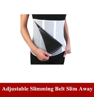 Free Shipping Adjustable Slimming Belt Slim Away Weight Loss Belt 5 Zippers 2pcs/lot