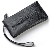 2014 Fashion Gift Leather Wallets Women Clutch Organizer Evening Bag Alligator Head Purse Handbag BB013