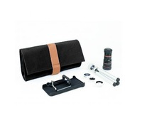Free shipping 5 in 1 Lens for iPhone4/4S --Wide Angle lens+Marco lens + Fisheye lens +8X Telephoto lens+2X Telephoto Lens