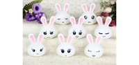 2013 Christmas Best Promote Product Mini Lovely Rabbit 7-Colors Night Light -Kids Bedroom Party Decor LED Juguetes Lamp 8pcs/set