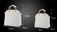 2013 NEW fashion handbag vintage shoulder bag matching women hand bags leather + PU bag Large bag small bag, two kinds of choice