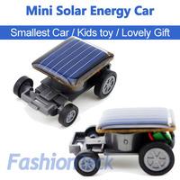 Hot Sale Mini Solar Car Energy Power Child Kid Toy Car World Smallest Car Gift Teaching Aid