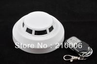 Free shipping HD 1080P Smoke Detector Hidden Camera wireless alarm camera motion detection with IR function