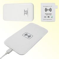 Hot Qi Wireless Charger Receiver + Wireless Charger Transmitter Charging Pad Mat Plate For Samsung Galaxy Note 2 II 7100 7102