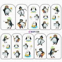 10 Designs Birds Nail Art Wraps Water Transfer Decals Cute Owl Penguin 30 pcs/lot