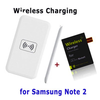 100% quality Qi Wireless Charger Kit+Ultrathin wireless charging receiver card for Samsung Galaxy Note 2 N7100 7102